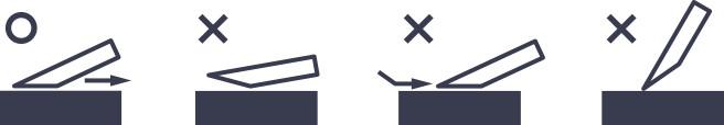 片刃の場合のイメージ