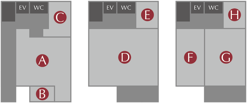 ナイフギャラリー施設案内図